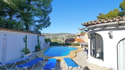 Photo for Moraira villa for 4 people, private pool, beach 3 km.