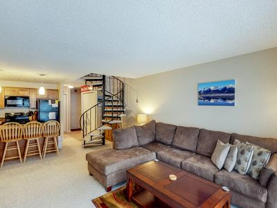 Photo for Renovated dog-friendly condo with mountain views, access to hiking & skiing