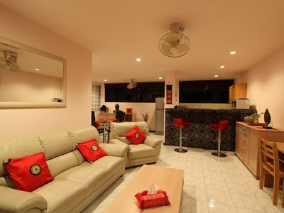 Photo for Shiva APARTMENT 80 M2 sea view + pool 2 c. Kitchen with bar. Terrace