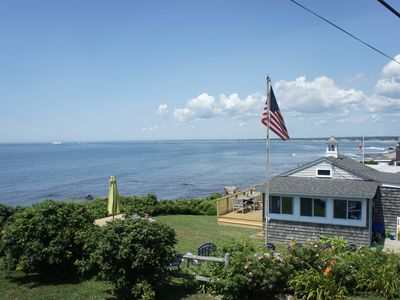 Photo for Direct Ocean Front Cottage in Narragansett on Point Judith w/Private Assoc Beach