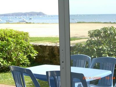 Photo for Apartment T 2 PERROS GUIREC PANORAMIC SEA VIEW ROSE GRANITE COAST