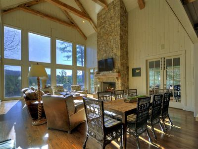 Photo for Perched above the lake, this luxurious home is a must see.