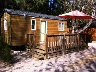 Photo for Camping Fouguières *** - Mobile Home Classic Eco Bois 2 Rooms 2 Persons