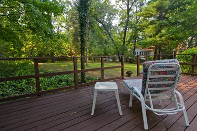 A bird watcher's haven, right off the deck.