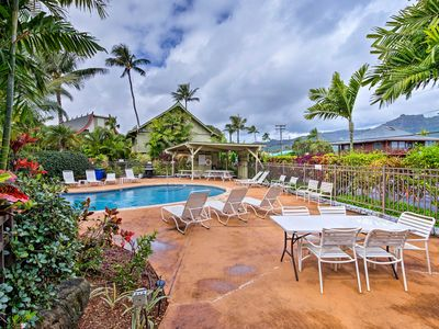Photo for Oceanfront Kapa'a Studio w/Lanai - Steps to Beach!