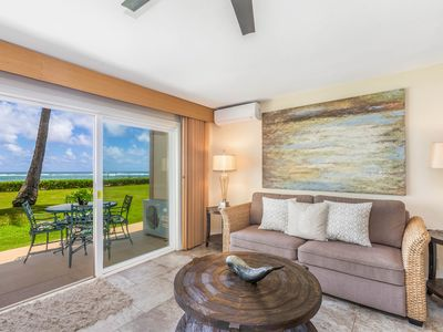 Photo for NEW! PONO KAI B101, REMODELED, AC, BEACHFRONT, WALK TO TOWN, SUNRISE VIEWS
