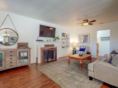 Photo for Airy home w/ private hot tub, free WiFi & grill - close to beach!