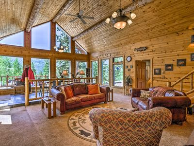 Photo for NEW! Quiet Twin Lakes Log Cabin w/Lake & Mtn Views