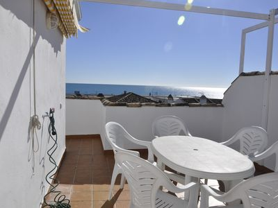 Photo for Spectacular Penthouse with views to the sea and the pool 150M2 from the beach