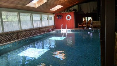 Wow--your own private indoor pool, heated to 78 degrees MARCH to SEPTEMBER ONLY!