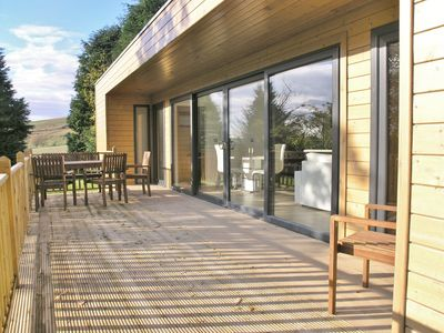 The south facing deck is ideal for dining