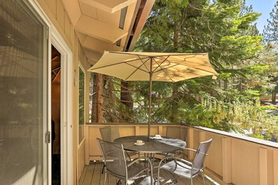 You'll have your own balcony with outdoor seating and dining.