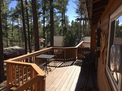 Photo for Wood Cabin, Full Amenities, Family Friendly and wifi access