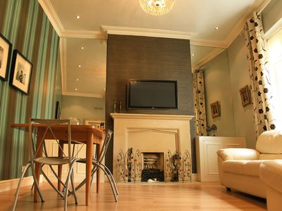 Photo for London Kensington Apartment 2bd/2Bath - Private Garden, Fire Place, next to Tube