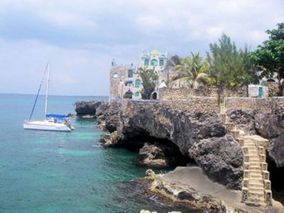 Majestic Sea Front Castle on Cliffs of Negril