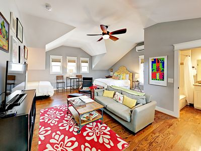 Living Area - Welcome to Nashville! This hip studio is professionally managed by TurnKey Vacation Rentals.