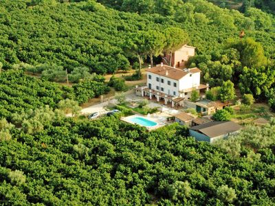 Photo for Lovely apartment in villa for 3 guests with pool, WIFI, TV, pets allowed and parking