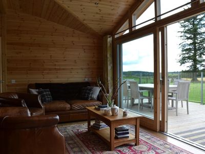 Photo for Exceptional lodge in private woodland with luxury steam room