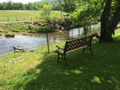 Creek bank relaxation area