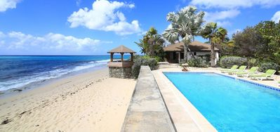 Villa Blue Beach  -  Beach Front - Located in  Fabulous Baie Longue with Private Pool