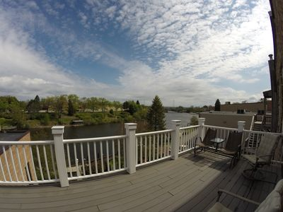 View from back deck of Manistee River