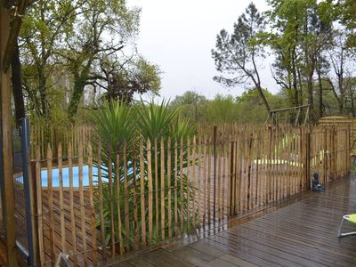 Photo for Villa with pool classified 3 stars in the quiet forest of Soulac sur mer