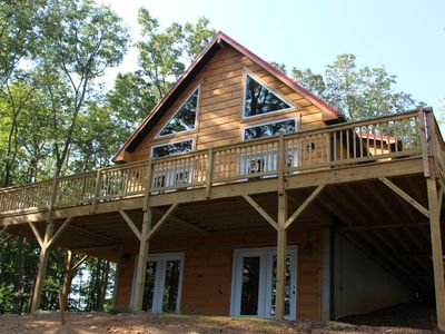 Photo for Stone Mountain Sanctuary - Blue Ridge Luxury Cabin With Great Views!