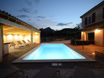 Photo for Air-conditioned holiday home with private heated pool
