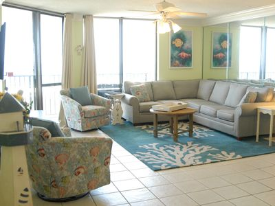 Photo for Beautiful 5 BR on the gulf -  the space of a house...amenities of a cond