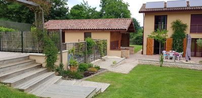 Photo for Family friendly Gite with large heated pool ( Salt) and garden with games area