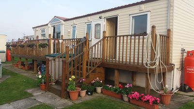 Photo for Spacious Family Caravan, with Large Veranda and private seating area, sleeps 6.