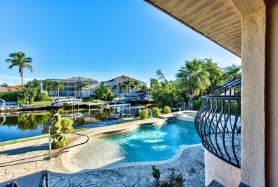 Private Pool on the Canal with Private Boat Dock and Hot Tub (Pool Heat Optional Add On at Time of Booking); Ample Lounging and Seating; Beautiful Views!