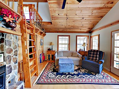 Photo for Peaceful Cabin in the Mountains w/ Loft, Gas Fireplace & Pastoral Views