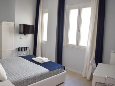 Photo for Modern double room with designer bathroom 10 minutes from the beach.