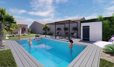 Photo for Villa with heated pool near beach, center