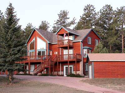 Photo for Beautiful Mountain Cabin,  Sleeps 8, and 2 Children  Views,  Hot Tub,  WiFi,