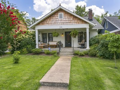 Photo for Walk Downtown! East Nashville Charmer w/ Full Kitchen, Leafy Back Patio, Firepit
