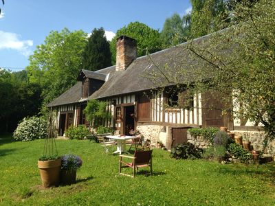 """Photo for """"Norman Indian summer!"""" Charming thatched cottage on the edge of Risle for 4 people"""