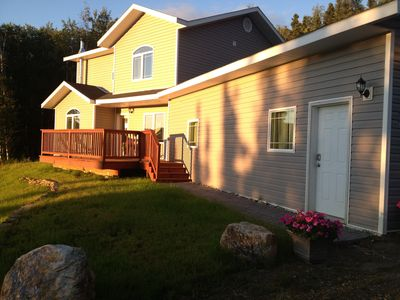 Photo for Pristine Home on 6 Acres w/ Outdoor Decks, Jetted Tub-  20 Minutes to Fairbanks!
