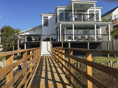 Photo for Spectacular Oceanfront Home. Walking Distance To All Folly Beach Attractions