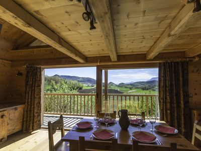 Photo for beautiful cottage 2 to 6 people in wooden chalet near the lake of Serre Ponçon