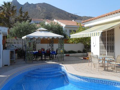 Photo for Bungalow With Private Pool & Garden, Sea Views &  parking, internet some air con