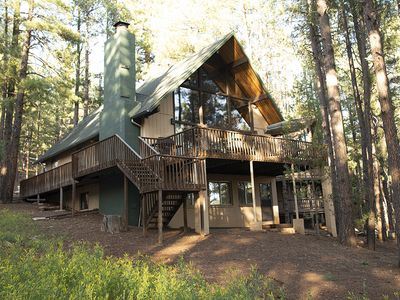 Nestled in the tall pines with incredible views.