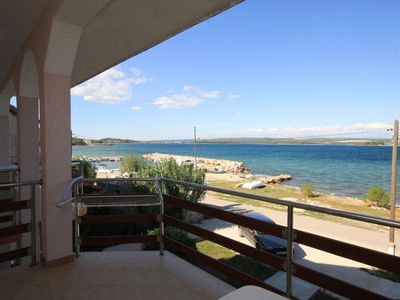 Photo for One bedroom apartment with terrace and sea view Kraj, Pašman (A-8247-e)