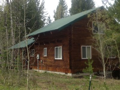 Rear view of the cabin