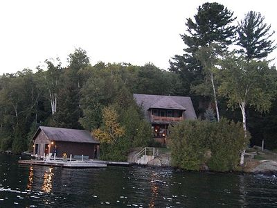 Photo for Adirondack Lakefront Great Camp Boat Access Only