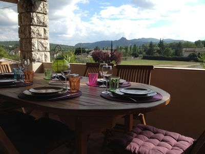 Photo for South Ardèche: Charming house classified 3 * in the ramparts of Ruoms
