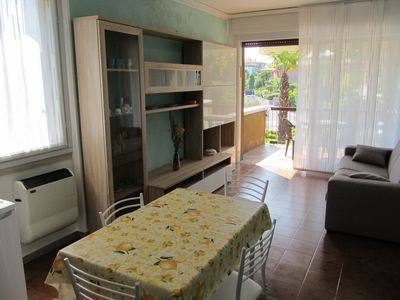 Photo for Studio apartment with pool, terrace, air conditioning. Near the lake and the spa