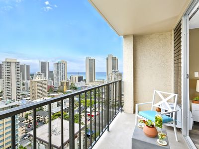 Photo for Diamond Head and Ocean Views!  Newly Renovated Studio!
