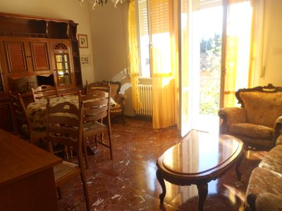 Photo for Rimini 69 € large appart. 7 minutes to the beach